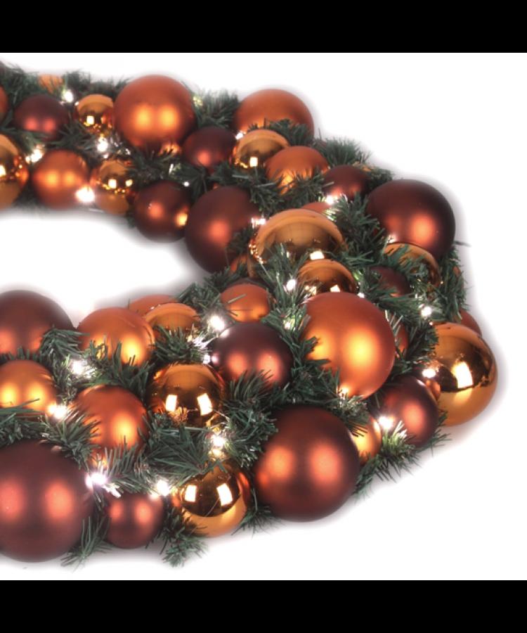 Luxury Wreath Warm Copper 50cm-1272
