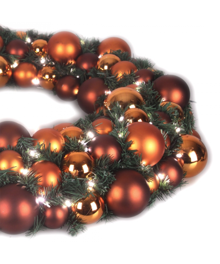 Luxury Wreath Warm Copper 75cm-1275