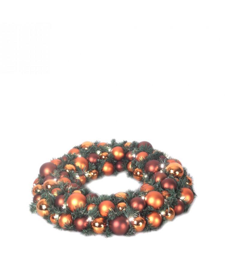 Luxury Wreath Warm Copper 50cm-1273