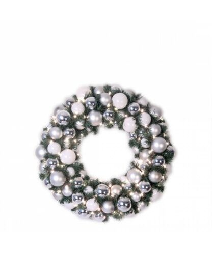 Luxury Wreath Bright Silver 50cm-0