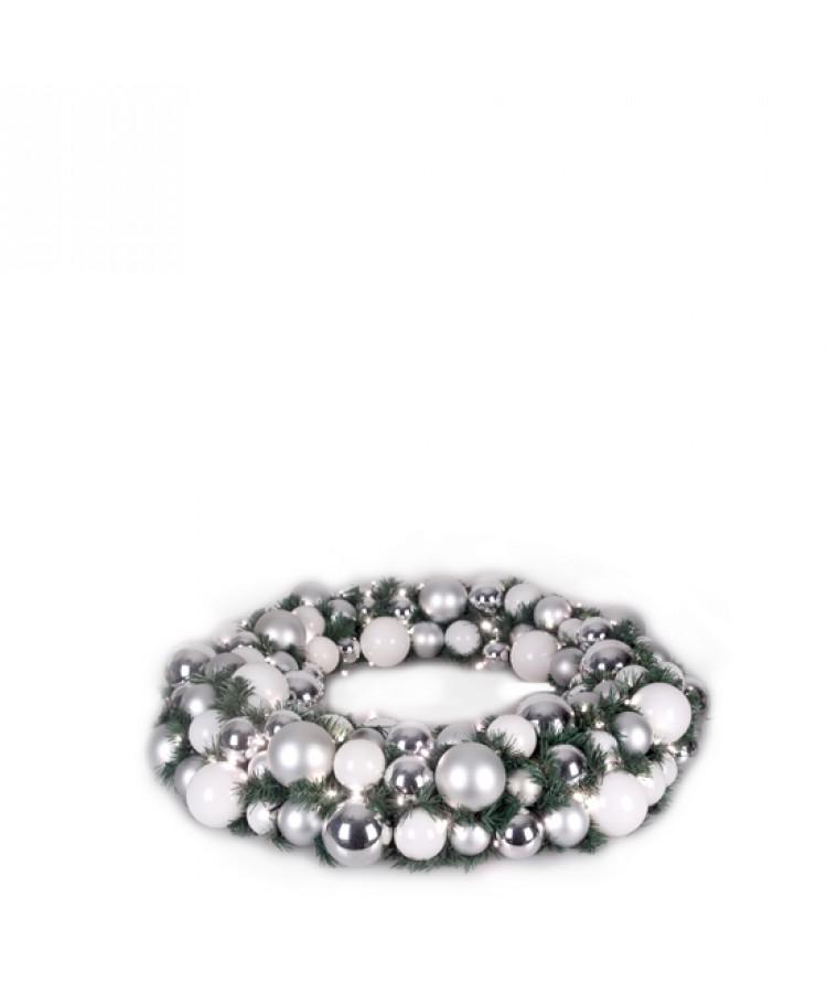 Luxury Wreath Bright Silver 75cm-1271